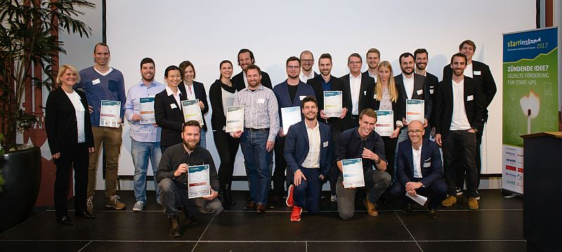 Die Sieger der Startinsland Businessplanphase 2017