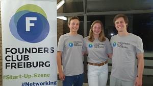Der neue Vorstand des Foundersclub (v.l.n.r.: Julian, Marina, Jurek)